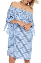 Scotch And Soda Off The Shoulder Tie Sleeve Dress