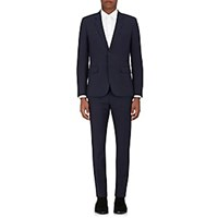Saint Laurent Wool Gabardine Two Button Suit Blue