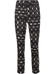 Piamita Printed Cropped Trousers Black