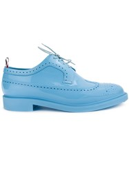 Thom Browne Rubber Brogue Shoes Blue