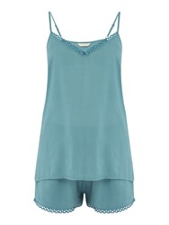 Cyberjammies Grace Modal Cami Short Set Teal