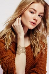 Free People Womens Metallic Lace Cuff