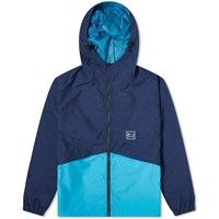 Woolrich Outdoors Green Cycle Reversible Jacket Blue