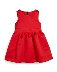 Milly Minis Satin Fit And Flare Dress Red