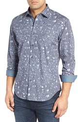Bugatchi Men's Shaped Fit Splatter Check Sport Shirt