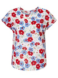 John Lewis Collection Weekend By Cluster Dobby Top Ivory Multi