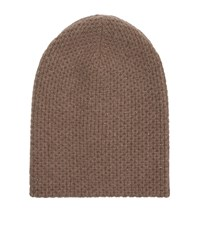 William Sharp Cashmere Crystal Embellished Hat Beige