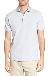 Rodd And Gunn Men's 'Southland' Twill Collar Pique Polo Silver