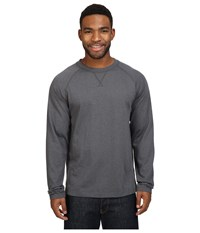 The North Face Long Sleeve Copperwood Crew Asphalt Grey Heather Men's Clothing Gray
