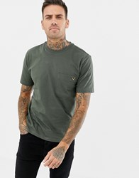 Voi Jeans Pocket T Shirt In Khaki Green