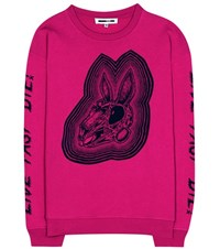 Mcq By Alexander Mcqueen Bunny Be Here Now Cotton Sweater Pink