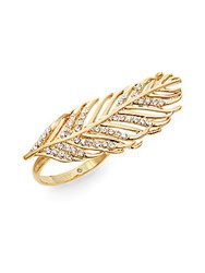 Rebecca Minkoff Feather Ring Goldtone