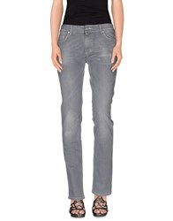 Shaft Denim Denim Trousers Women Grey