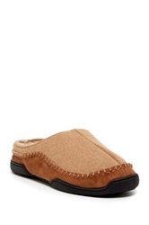 Gold Toe Fleece Lined Slip On Slipper Brown