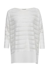 Great Plains Tabitha Jersey Perforated Detail Top White