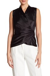 Lafayette 148 New York Fabienne Pleated Sleeveless Blouse Black