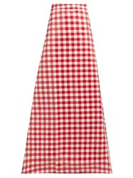Vetements Tablecloth Check Coated Cotton Maxi Skirt Red Multi
