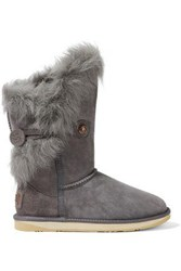 Australia Luxe Collective Woman Nordic Angel Shearling Snow Boots Gray