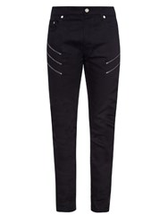 Saint Laurent Low Rise Slim Fit Jeans Black