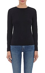 Barneys New York Women's Long Sleeve T Shirt Black Blue Black Blue