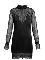 Jonathan Simkhai Lace And Satin Mini Dress Black
