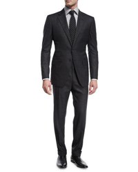 Tom Ford O'connor Base Broken Twill Two Piece Suit Charcoal