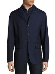 Luciano Barbera Long Sleeve Buttoned Jacket Navy