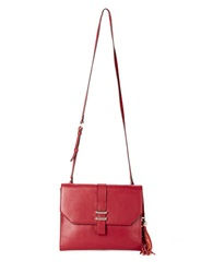 Dolce Vita Juliet Leather Clutch Cranberry