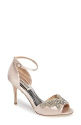 Badgley Mischka Women's Barker Ankle Strap D'orsay Pump Light Pink Satin