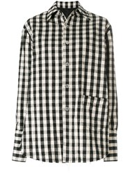 Helmut Lang Quilted Check Jacket Cotton Linen Flax Cupro M White