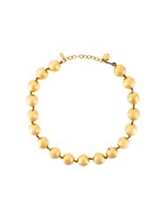 Chanel Vintage Beaded Necklace Yellow And Orange
