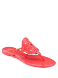 Jack Rogers Georgica Jelly Thong Sandals Black
