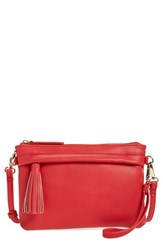 Bp. Faux Leather Convertible Crossbody Bag Red