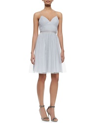 Aidan Mattox Bridesmaid Sleeveless Tulle Fit And Flare Dress