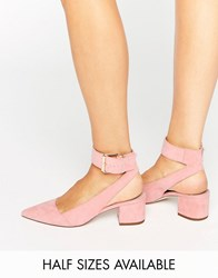 Asos Star Pointed Heels Apricot Pink