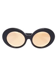 Linda Farrow Oval Sunglasses Black