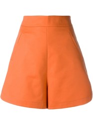 Andrea Marques High Waisted Shorts Yellow Orange