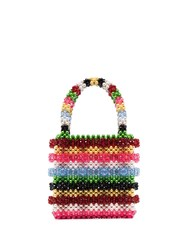 Shrimps Antonia Striped Beaded Tote 60