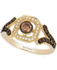 Le Vian Chocolatier Chocolate Deco Diamond Ring 3 8 Ct. T.W. In 14K Gold
