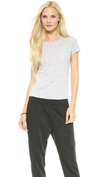J Brand Ready To Wear Jade Tee Pale Blue Heather