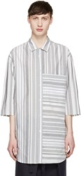 Stephan Schneider Grey Multi Stripe Chevron Shirt