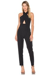 Milly Cady Nicole Halter Jumpsuit Black