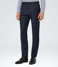 Reiss Frazier T Mens Wool Tailored Trousers In Blue