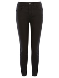 Karen Millen Coated Jeans Black