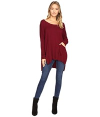 Culture Phit Cheyenne One Pocket Sweater Burgundy Women's Sweater