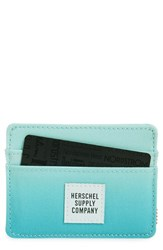 Women's Herschel Supply Co. 'Charlie' Ombre Card Case Blue Sunrise
