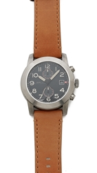 Marc By Marc Jacobs Larry 46Mm Watch With Leather Strap Tan Black