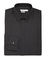 J. Lindeberg Slim Fit Paisley Print Shirt Black