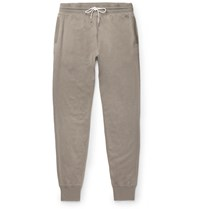 Tom Ford Tapered Cotton Silk And Cashmere Blend Sweatpants Gray