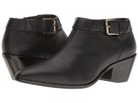 Nina Wheeler Black Leather Women's Boots